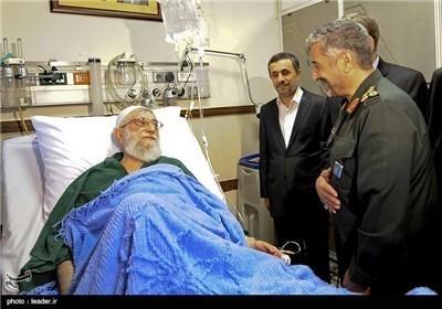 کبار الشخصیات یزورون الامام الخامنئی فی أحد مستشفیات طهران