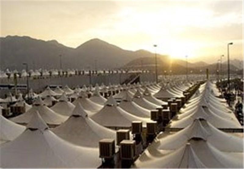 موقعیت جغرافیایی چادر حجاج ایرانی در صحرای عرفات و منا/سرانه اسکان هر زائر کمتر از یکونیم متر