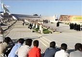 ادای احترام بسیجیان سپاه سیدالشهدا به شهدای مدفون در باغ موزه دفاع مقدس