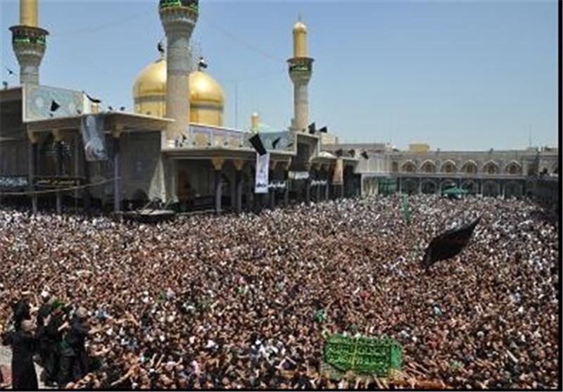 مئات الالاف یحییون بالکاظمیة المقدسة ذکرى استشهاد الامام الجواد (ع)