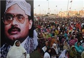 تظاهرات حامیان حزب متحده قومی پاکستان