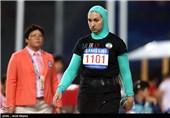 پرتاب وزنه و مدال لیلا رجبی