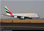 فرود هواپیمای ایرباس 380 در فرودگاه امام خمینی(ره) تهران