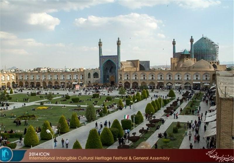 میدان نقش جهان اصفهان سنگفرش میشود