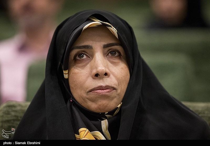 الهام امین زاده معاون حقوقی رئیس جمهور در مراسم افتتاحیه هفته جهانی فضا