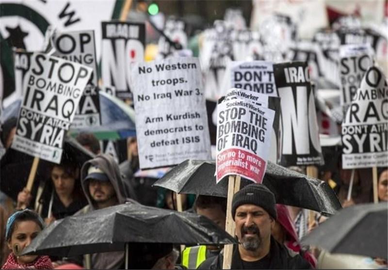 تظاهرات انگلیسی ها