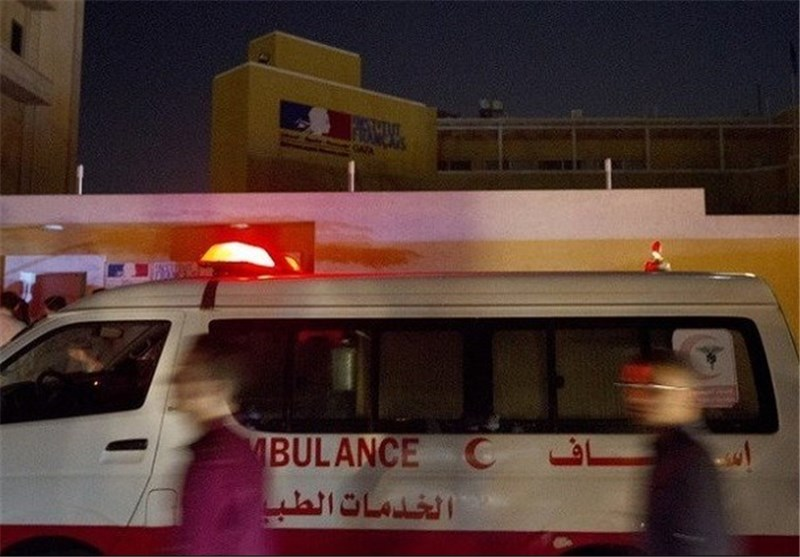 انفجار در غزه مرکز فرهنگی فرانسه آمبولانس