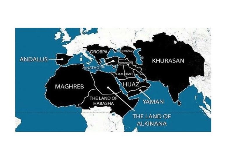 "خریطة ""داعش"" الجدیدة تضم نصف افریقیا وربع آسیا وجزأ من اوروبا"