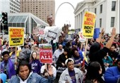 Thousands Stand Up against Police Brutality in Ferguson, St. Louis