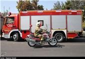 آتشسوزی در دبستان دخترانه در خیابان سبلان جنوبی