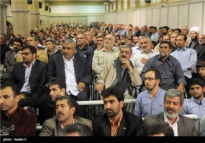 A Group of Iranian People Meet Ayatollah Khamenei