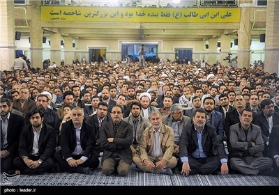 A Group of Iranian People Meet Ayatollah Khamenei