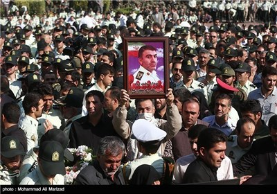 Funeral Held for Victims of Crashed Iranian Police Plane