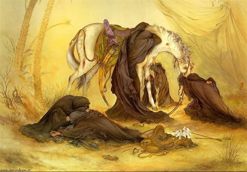 «عصر عاشورا»؛ ماندگارترین نمای فرشچیان از غمِ حقیقیِ جایِ خالیِ حسین(ع)