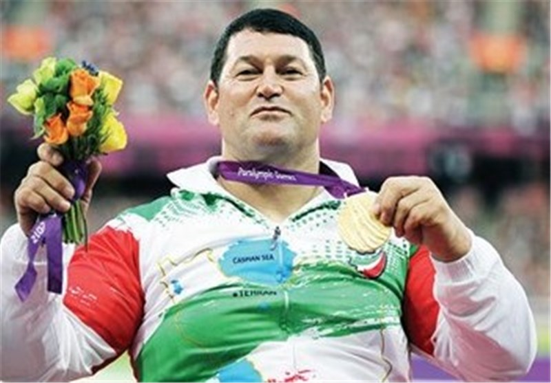 Iran's Flagbearer Jalil Bagheri Earns Gold