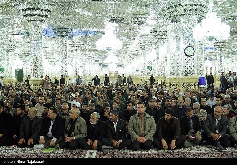 اهدای پرچم رضوی به هیئتهای مذهبی - مشهد