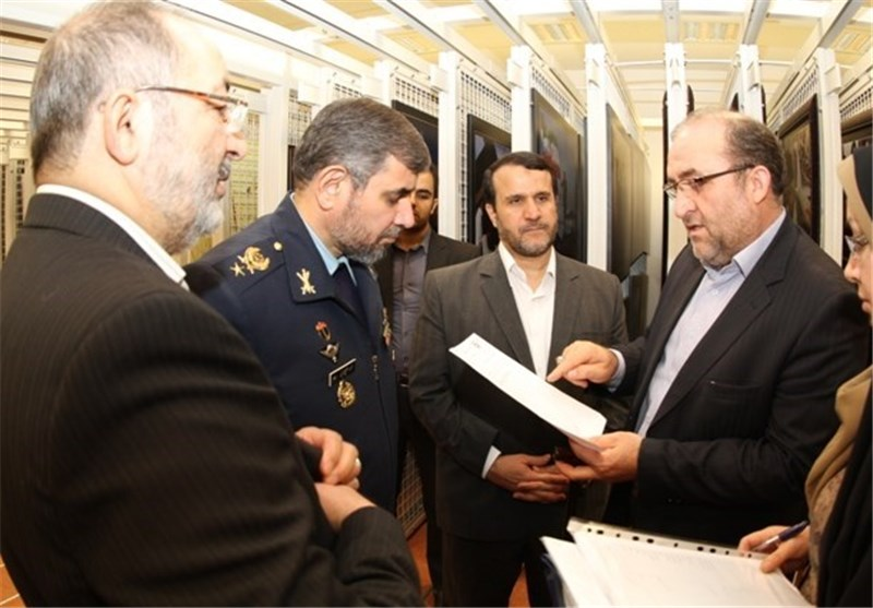 بازدید سردار جزایری و سردار کارگر از باغ موزه دفاع مقدس