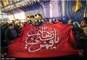 اهتزاز پرچم حرم حضرت ابوالفضل(ع) در برج میلاد
