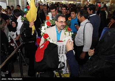 استقبال از کاروان اعزامی مسابقات پارا آسیایی 2014 - مشهد