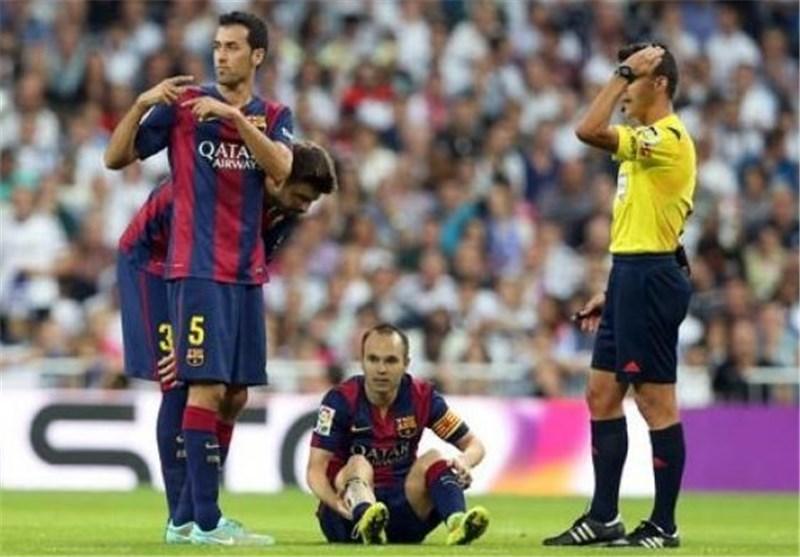 باشگاه بارسلونا مصدومیت اینیستا را تأیید کرد