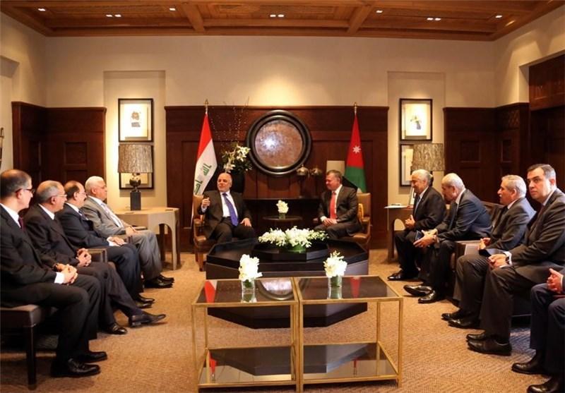 دیدار العبادی با پادشاه و نخست وزیر اردن/ النسور: ما خواستار عراقی متحد و یکپارچه هستیم