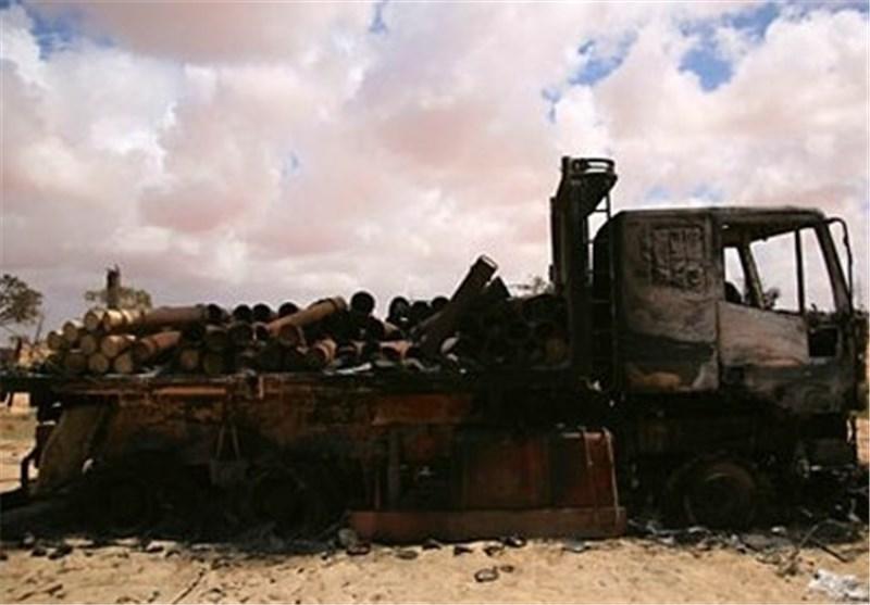 تدمیر شاحنة قادمة من ترکیا محملة بالسلاح للإرهابیین وتفکیک عبوات ناسفة بریف دمشق