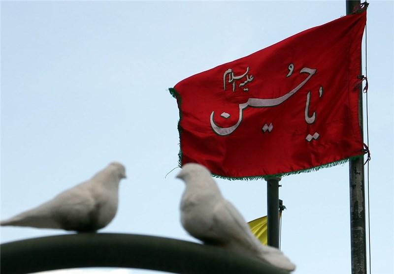 اهتزاز پرچم سالار شهیدان بر فراز استان علویان+ فیلم