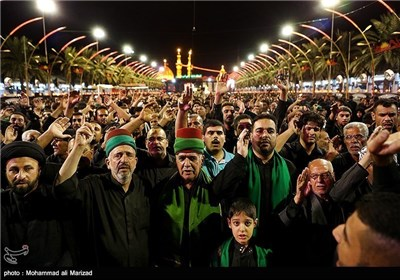 Mourning Processions in Holy Shrine of Imam Hussain (AS) in Karbala