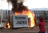 Protesters Clash with Mexico City Riot Police over Student Massacre