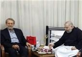 رئیس مجلس شورای اسلامی از آیت الله شهرستانی عیادت کرد