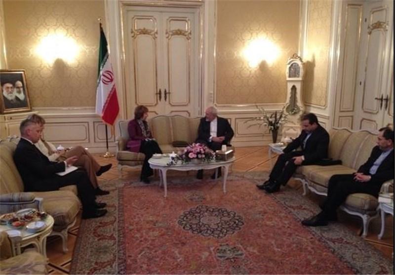 نشست سه جانبه دکتر ظریف، اشتون و برنز در پاله کوبورگ برگزار شد