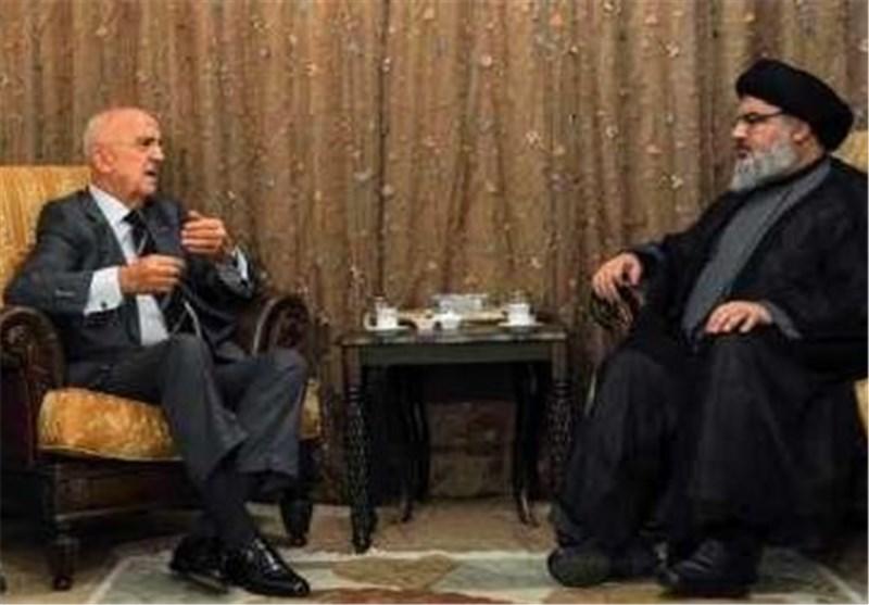 السید نصر الله یستقبل وزیر الدفاع اللبنانی سمیر مقبل