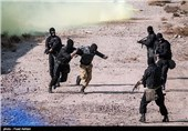 تمرین مقابله باگروهکهای تروریستی توسط تیپ 364 نزاجا