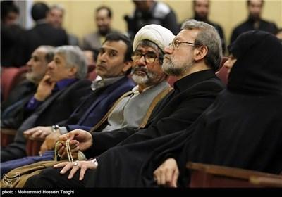 علی لاریجانی رئیس مجلس شورای اسلامی در اولین همایش ملی منطقهای راهکارهای تحقق اقتصاد مقاومتی - مشهد