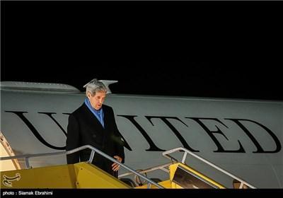 ورود جان کری وزیر امور خارجه آمریکا به وین (محل مذاکرات ایران و 1+5)