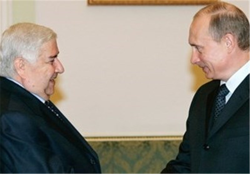 ولید المعلم یبحث مع بوتین الأفکار الروسیة بشأن الحل السیاسی للأزمة السوریة
