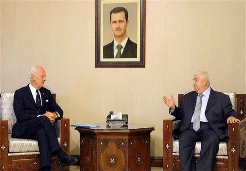 """وزیر الخارجیة السوری: نحن نلتزم بمبادرة """"دی میستورا"""" عندما یلتزم الطرف الآخر بتنفیذها"""