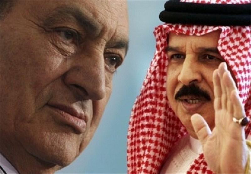 شاه بحرین و حسنی مبارک دیکتاتور مصر