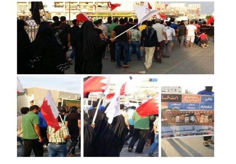 """الشعب البحرینی یجدد رفضه لمسرحیة """"الانتخابات"""" وقوات النظام الخلیفی تقمع حراکه من جدید+ صور"""