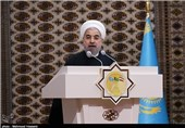 Rouhani: Railroad to Boost Iran, Turkmenistan, Kazakhstan's Global Market Share