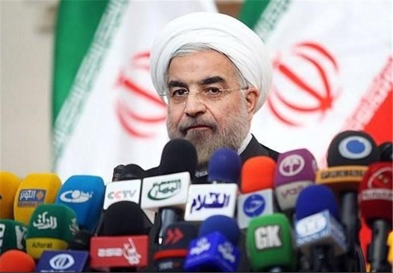 بدء المؤتمر الصحفی للرئیس حسن روحانی