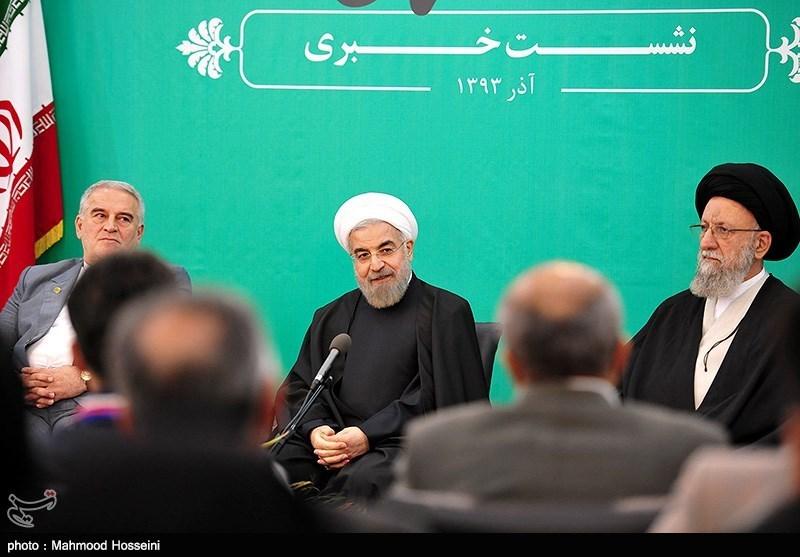 نشست خبری حجت الاسلام حسن روحانی رئیس جمهور - گلستان