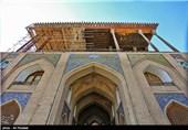 پایان عملیات استحکام بخشی ایوان کاخ عالیقاپو اصفهان