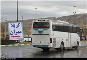 Iranian Buses Head to Transfer Pilgrims from Iraq