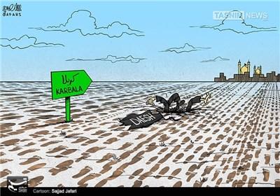 کاریکاتور/ نمایش قدرت شیعیان مقابل داعش!