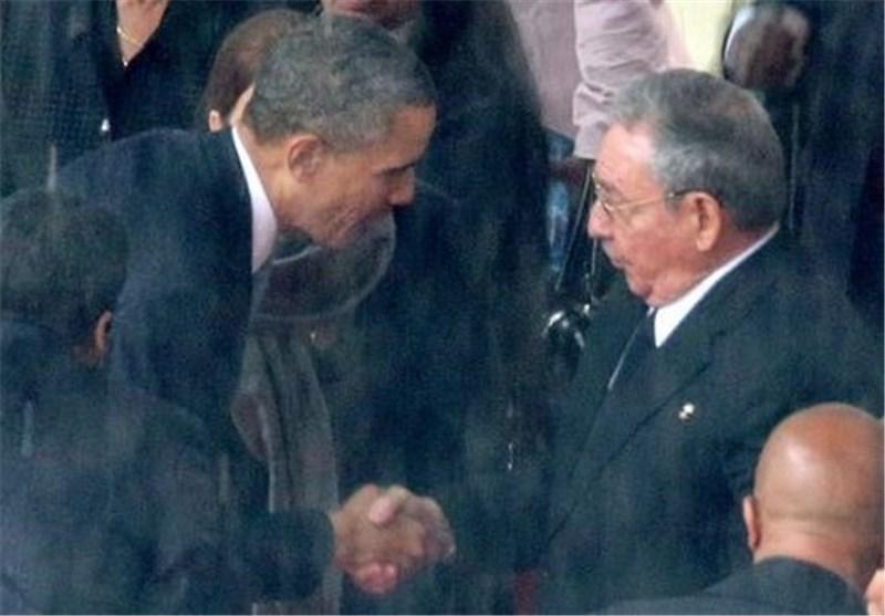 """اوباما : سیاسة الحظر """" العتیقة والجامدة """" لم تفلح فی عزل کوبا عن الساحة الدولیة"""