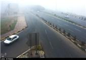 مه غلیظ در اهواز