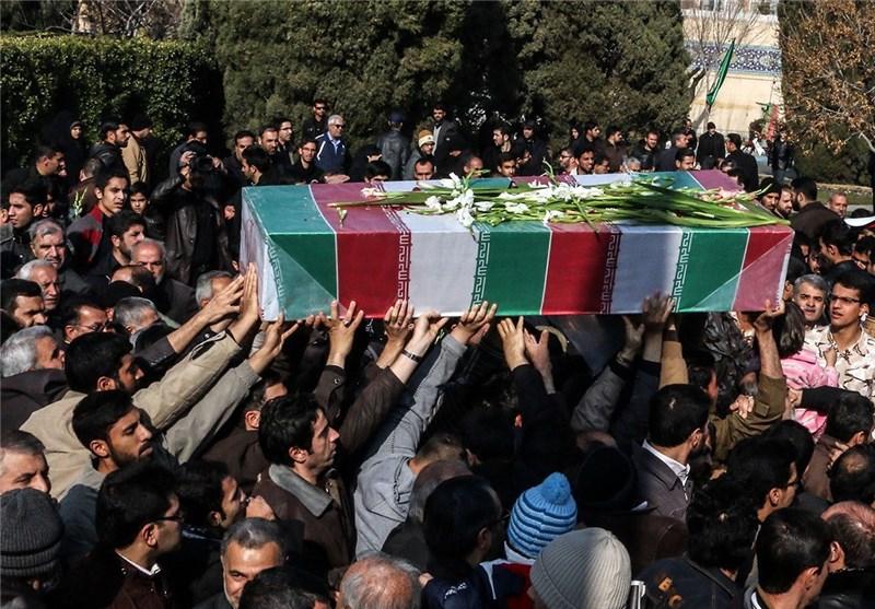 پیکر مطهر 2 شهید گمنام در لنجان تشییع شد