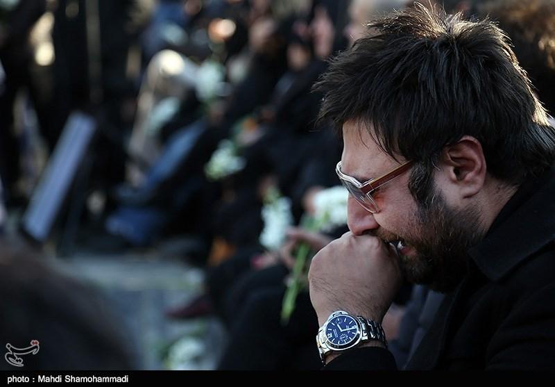 تصاویر مراسم چهلم مرتضی پاشایی در بهشت زهرا