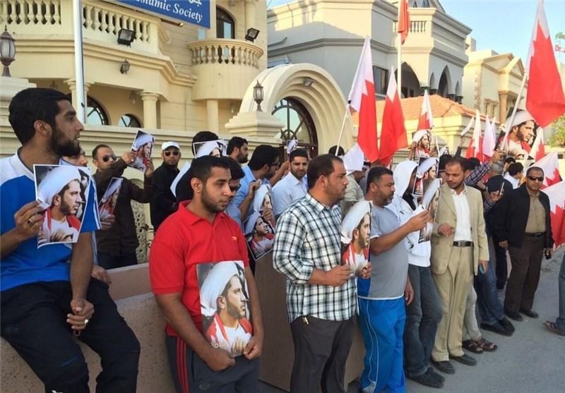 تجمع اعتراضآمیز مردم بحرین در حمایت از شیخ علی سلمان + عکس